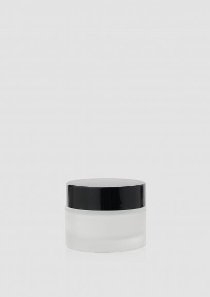"""Envase cosmético """"Cielo"""" 50 ml. Ref:JAC050102 Tarro calidad de Cristal Translúcido-Negro"""