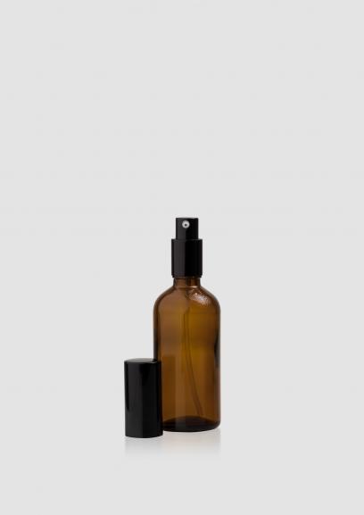 """Envase cosmético """"Ámbar"""" 30/50/100 ml. Botella calidad de Cristal con bomba dosificadora Ámbar"""
