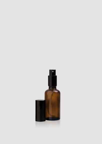 """Envase cosmético """"Ámbar"""" 15/30/50/100 ml. Botella calidad de Cristal con bomba en spray Ámbar"""