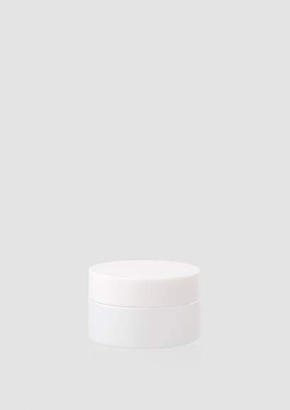 """Envase cosmético """"Cielo"""" 30 ml. Ref:JAC030101 Tarro calidad de Cristal Blanco-Blanco"""