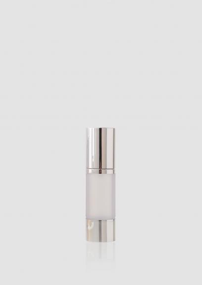 Envase cosmético Platinium 30 ml. Ref AIP030102 Botella Airless calidad ABS Plata translúcido