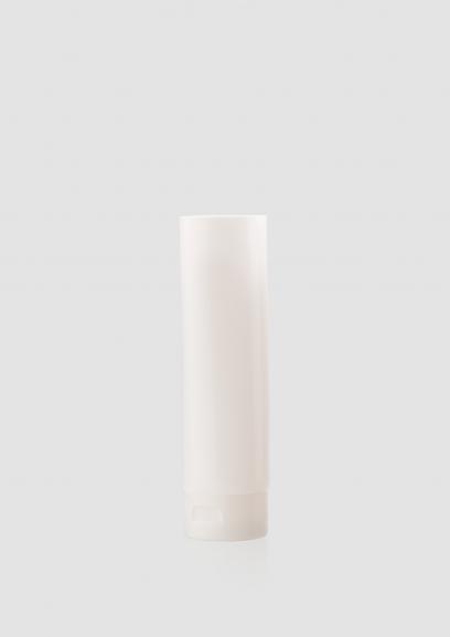Envase cosmético Terra 200 ml. RefTUP200100 Tubo calidad PE de alta densidad de doble capa Blanco brillo
