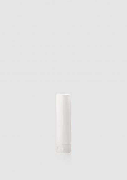 Envase cosmético Terra 50 ml. RefTUP060100 Tubo calidad PE de alta densidad de doble capa Blanco brillo
