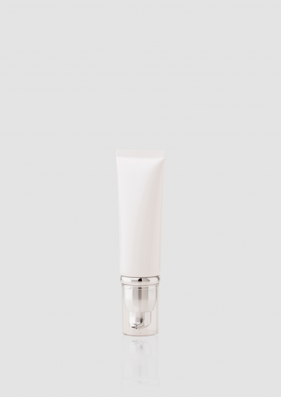 Envase cosmético Terra Sup 50 ml. RefTUP060101 Tubo de PE con bomba de alta densidad de doble capa Blanco