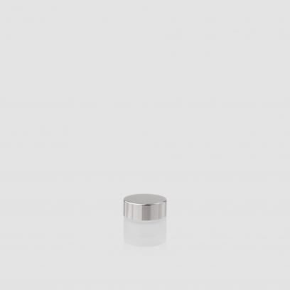 """Envase cosmético """"Cielo"""" 10 ml. Ref:JAC010100 Tarro calidad de Cristal Translúcido-Plata"""