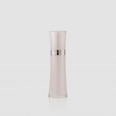Envase cosmético Cisne 60 ml. Ref BOP060102 Botella dosificadora calidad Acrilic con bomba Blanco